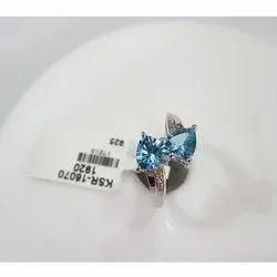 Blue Topaz Sapphire Ring