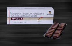 Diclofenac Potassium 50 mg, Paracetamol 325 mg & Serratiopeptidase 10 mg Tablets