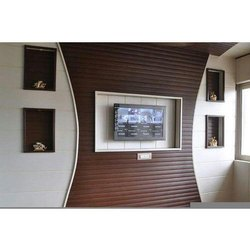 Brown Pvc Or Wooden TV Cabinet, For Hotal and office and house