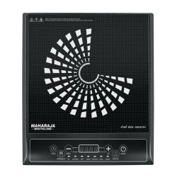 1800W Black And White Maharaja Whiteline Chef Star Ceramic Induction Cooktop