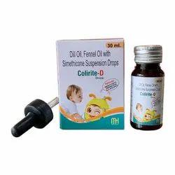 Dill Oil Fennel Oil With Simethicone Suspension Drops