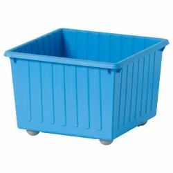 Blue Rectangular PP Crates