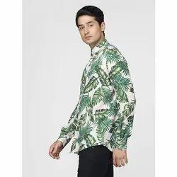 Green Hill Men's Printed Casual Tropical Shirt