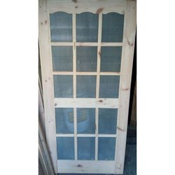 Pine Wood And Ss Wire Mesh Exterior Pinewood Wire Mesh Door, Size/dimension: 7 (h) X 3 (w) Feet