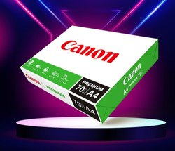 White Canon Premium A4 70 Gsm Paper, Packaging Size: 500 Sheets per pack