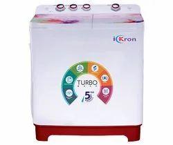 I-KRON Top Loading 8.0 Kg Semi Automatic Washing Machine