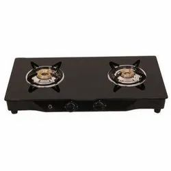 Black Glass Top Two Burner Gas Stove