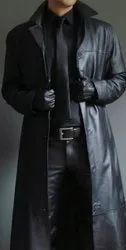 Mens Long Leather Coat