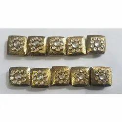 Square Brass Beads