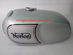 New Norton Commando Roadster Silver Painted With Logo Steel Petrol Tank(Reproduction)