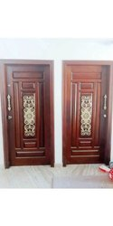Good Looking Wood Brass Murals Doors, Single, Thickness: 32mm