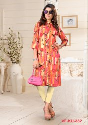 Women Rayon Cotton Kurti