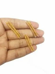 Citrine Faceted Rondelle Beads Bar Pendant