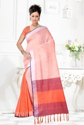 Women's Linens Cotton Saree
