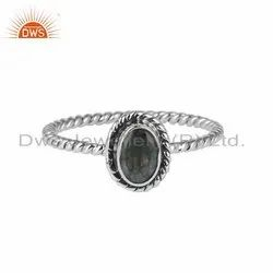 Labradorite Gemstone 925 Sterling Silver Womens Rings