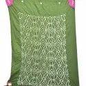 Green And Pink Color Cotton Bandhani Kurti