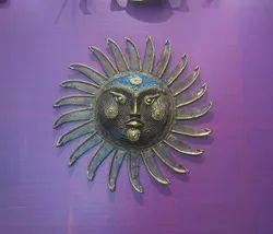 Hand Made Mixed Metal Wall Decor Sun