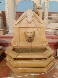 Teak Sandstone Tiger Face Garden Fountain