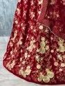 Red Velvet Bridal Lehenga Choly