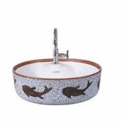 Printed Ceramic Countertop Wash Basin