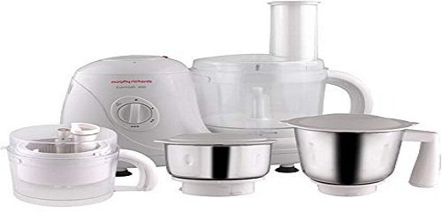 White Morphy Richards Essential 600 Food Processor, 501 W - 750 W
