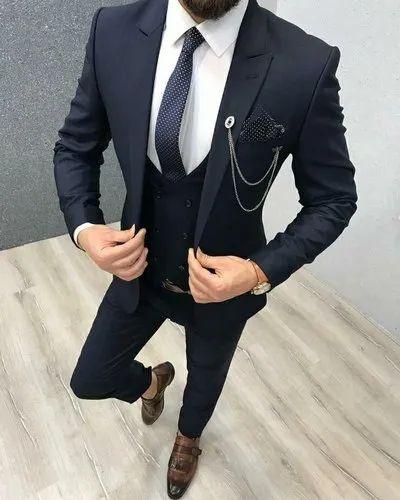 Formal Wear Plain Black 3pc Suit Rs 7000 Set Z Black Id 20668953948