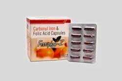 Ferriphos-Z Carbonyl Iron And Folic Acid Ferriphos Z Capsules, Packaging Type: Box