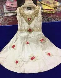 white pooja Trendy Kids Suits