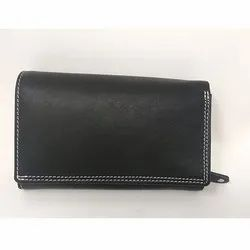 Black Fancy Leather Ladies Wallet