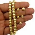 Brushed Gold Plated Copper Faceted Nugget Beads