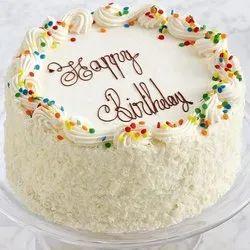 Awe Inspiring Round Vanilla Birthday Cake Packaging Type Box For Birthday Funny Birthday Cards Online Overcheapnameinfo