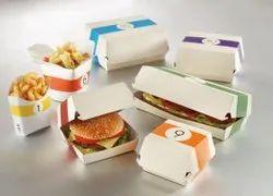 Corrugated Printed Duplex Sandwich/ Burger Box, For Food