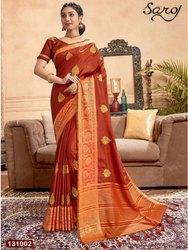 Fancy Designer Festive Wear Zari Silk Saree