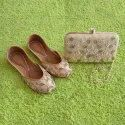 Dabka Moti Punjabi Jutti With Matching Clutch