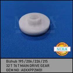 Bizhub  195 / 215 / 235 /  7719 / 7721 / 7723  32 T  76 T Main Drive Gear OEM NO : A0XXPP2W01
