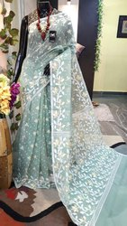 Party Wear Dhakai Jamdani Saree, With Blouse, 5.5 m (separate blouse piece)