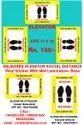 Rajshree Covid19 Elevator- Lift Social Distance Stickers