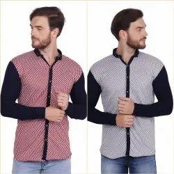 Collar FnX Men's Hosiery Printed Full Sleeves Casual Shirt