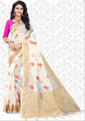 Pearl White Super Net Saree