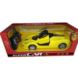 Yellow Plastic Remote Control Super Cars, For Playing Kids