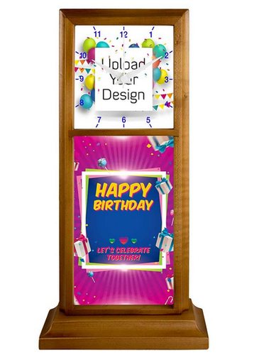 Make Your Own Happy Birthday Desk Stand Clock