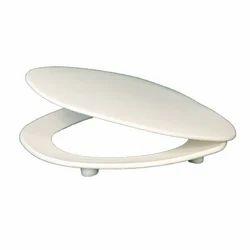 White Plastic Cascade Toilet Seat Cover