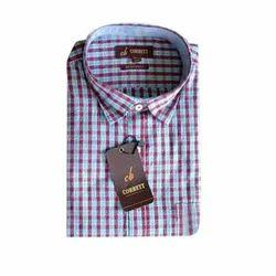 Mens Cotton Full Sleeve Checks Formal Shirt, Size: S to XXL