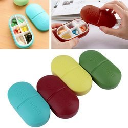 Portable 6-slot Capsule Shape Storage Medicine Pill Box