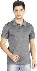 Adidas Men's Grey Half Sleeves T-Shirt
