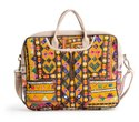 Embroidered Leather Laptop Bag