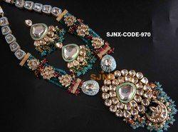 Pink satyam jewellery nx Traditional Necklace Set, Size: Round