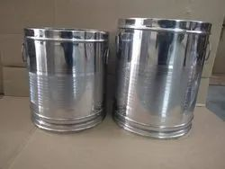 Silver Stainless Steel Atta Box, for Storage kitchen items, Packaging Type: Single