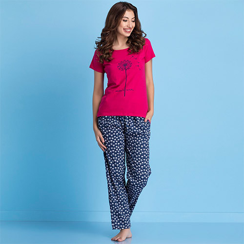 b5556573c7c Printed Top And Crepe Pyjama Set at Rs 399  set