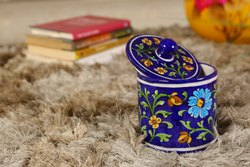 Blue Pottery Blue Color Jewellery Box